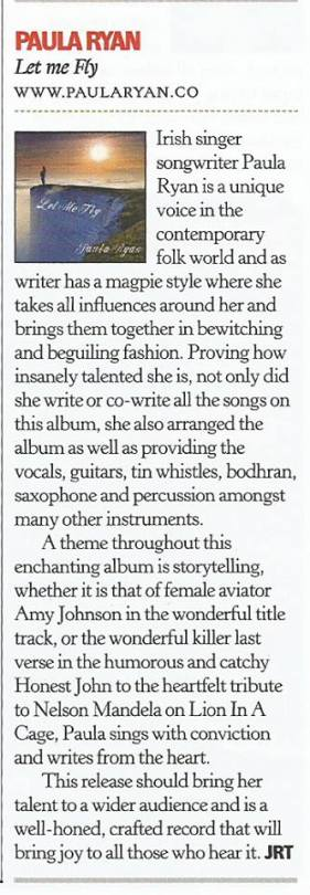 Classic Rock Society Magazine PR Album Let Me Fly Review