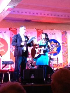 PR with Daithi O Se at Pan Celtic National Song Contest