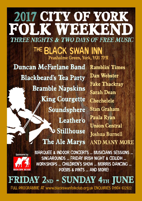 City of York Folk Weekend 2017 poster