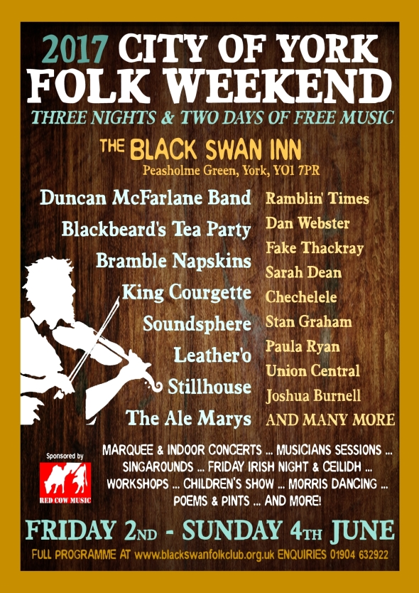 City of York Folk Weekend 2017 poster