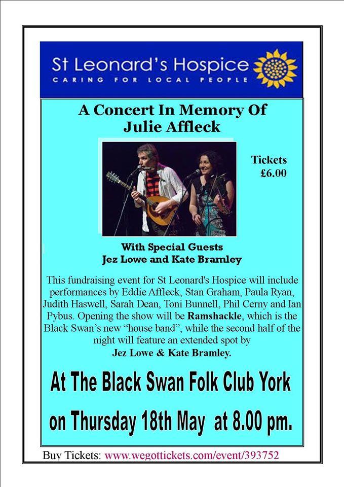 Julie Affleck Tribute concert poster