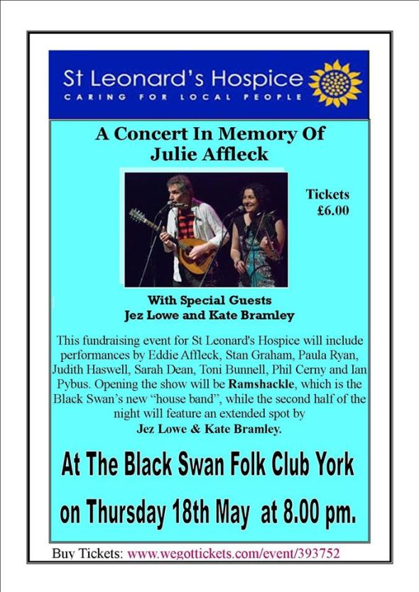 Julie Affleck Tribute concert poster