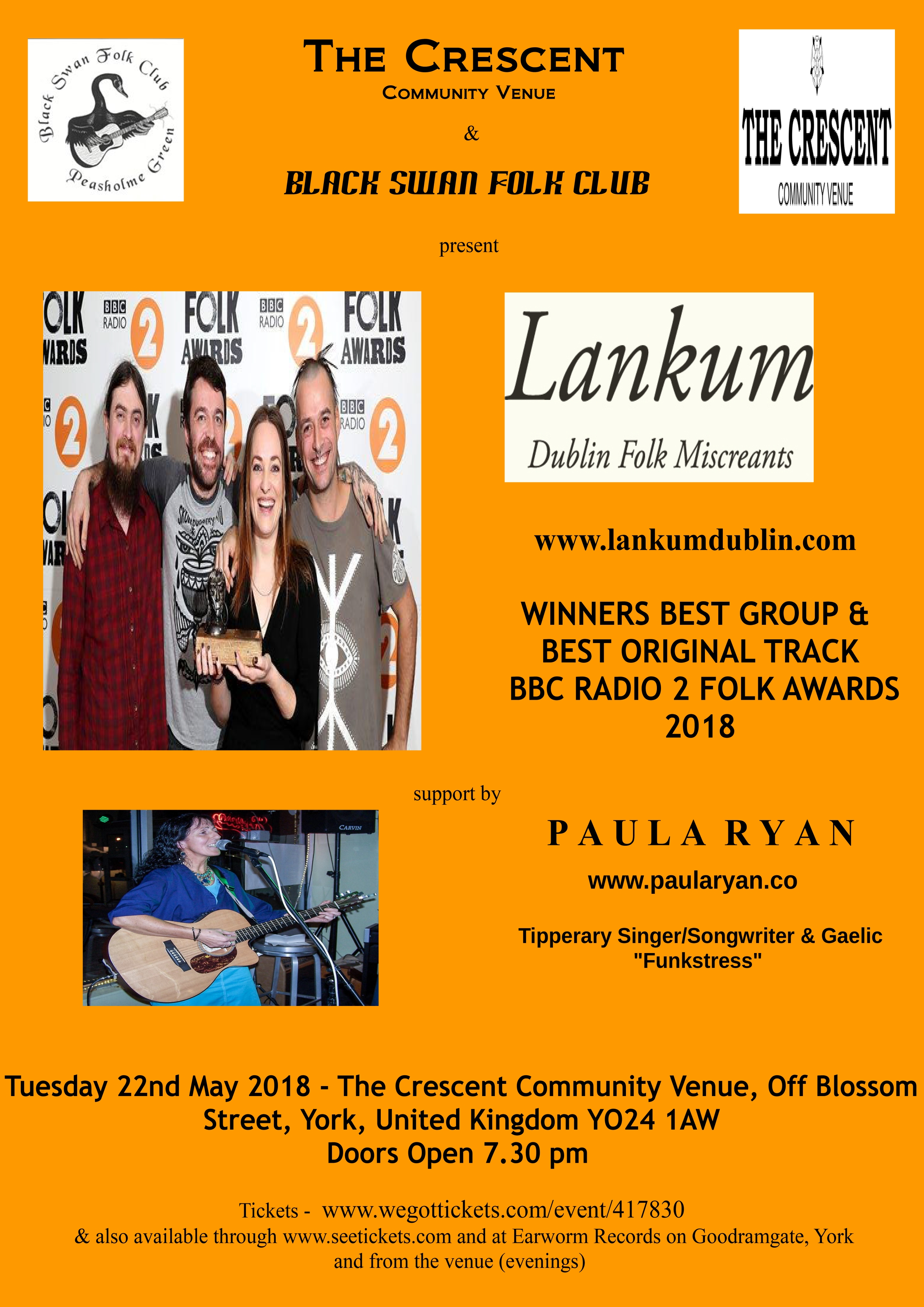 Lankum & support by PR poster