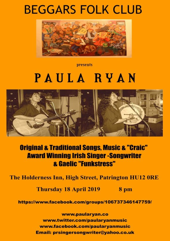 Beggars Folk Club Poster 18.04.2019