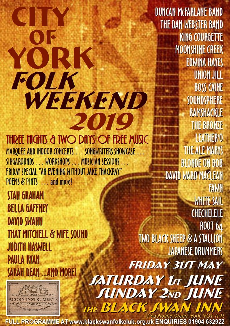 2019 Folk Weekend Poster Colour