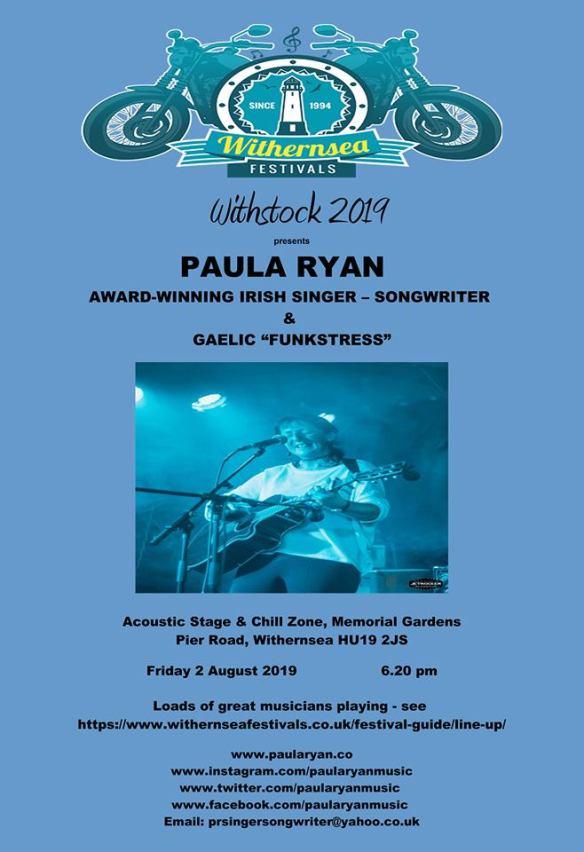 Gigs   Paula Ryan - Singer Songwriter