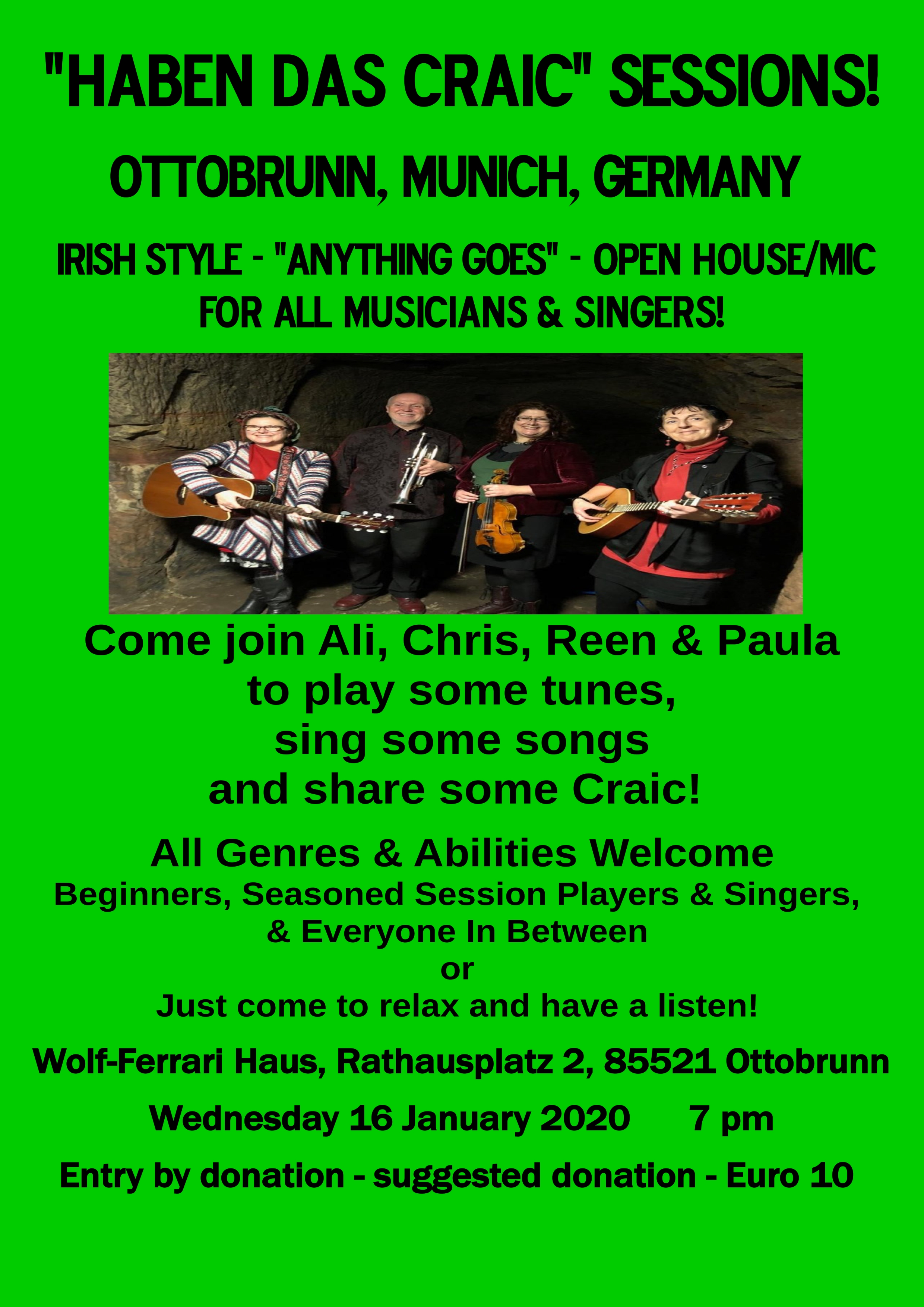 Havin The Craic Sessions in Ottobrun 16.01.2020 poster